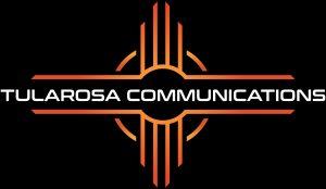 Tularosa Main Logo with White Font Black Background